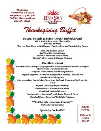 Red Sky Cafe, Thanksgiving Day Buffet