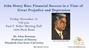 Duck Town Park, John Henry Bias: Financial Success in a Time of Great Prejudice and Depression