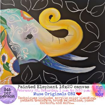 Muse Originals, Paint an Elephant w/ Gypsy Blyss