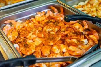 Jimmy's Seafood Buffet, Steamed Spiced Shrimp