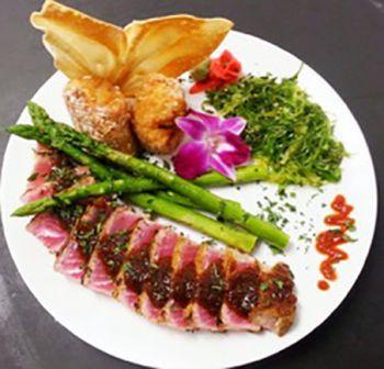 Argyle's Restaurant, Wasabi and Coriander Crusted Ahi Tuna Filet