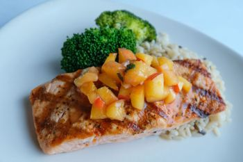 Mike Dianna's Grill Room, Hardwood Grilled North Atlantic Salmon