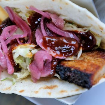 Bad Bean Baja Grill, Roasted NC Heritage Farm Pork Belly Taco