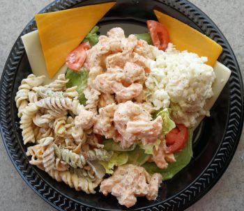 The Landing Grill, Shrimp Salad Cold Plate