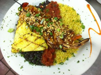 Tortugas' Lie Shellfish Bar & Grille, Skewered Shrimp Barbados