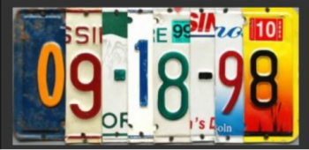 Absolutely Outer Banks, Custom License Plate Date