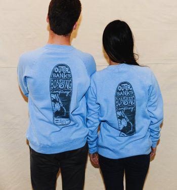 Outer Banks Boarding Company, OBBC Unisex Decker Crew Sweatshirt