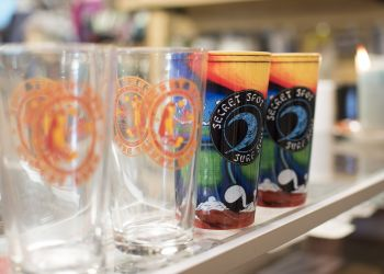 Secret Spot Surf Shop, Logo Pint Glasses