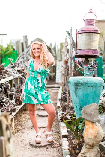 Foxy Flamingo Boutique, keep palm and carry on dress