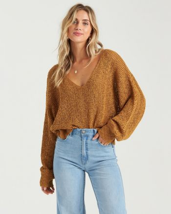 Outer Banks Boarding Company, Billabong Feel The Breeze Sweater Antique Gold