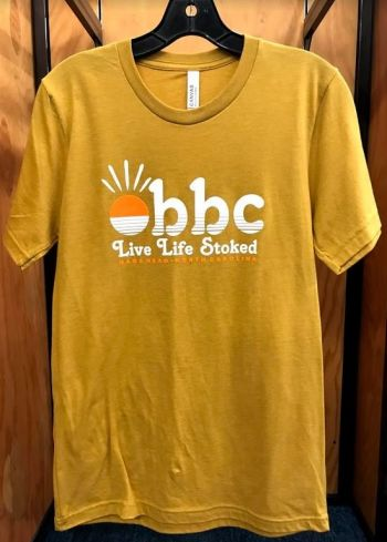 Outer Banks Boarding Company, OBBC Live Life Stoked Tee Heather Mustard