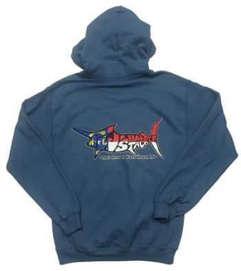 TW's Bait & Tackle, TW's NC Flag Marlin  Hooded Sweatshirt