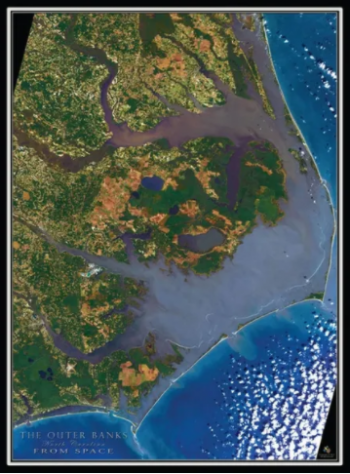 Gift Garden & American Classics Garage, Outer Banks From Space Puzzle