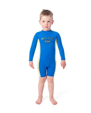 Outer Banks Boarding Company, Rip Curl Grom Boys L/SL UV Spring Suit Blue '20