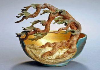 Silver Bonsai Gallery, CYPRESS CUT-AWAY BOWL