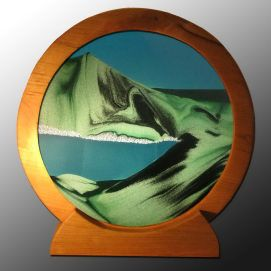Silver Bonsai Gallery, ROUND SAND ART-SUMMER TURQUOISE