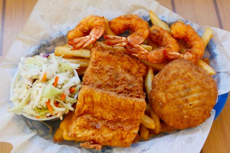 Atlantic coast cafe hatteras island restaurant for Atlantic fish fry