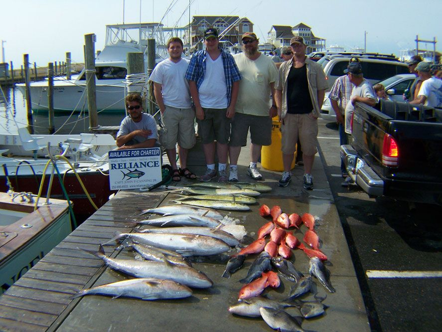 Reliance hatteras fishing charters outer banks nc for Nc lifetime fishing license