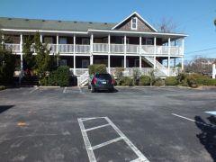 Parking lot at Scarborough Inn