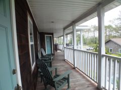 Upstairs porch at Scarborough Inn