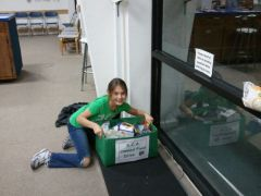 Collecting donations for Beach Food Pantry