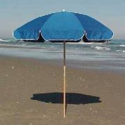Beach umbrellas for rent at Just For the Beach Rentals