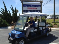 Why walk to the beach when you can catch our beach shuttle!