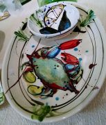 Maryland artist Donna Toohey's unique hand painted tableware.