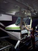 Plane simulator at the new Visitor Center