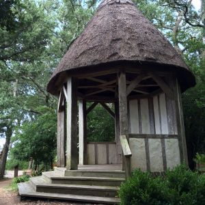 Gazebo in The Elizabethan Gardens in Manteo, NC