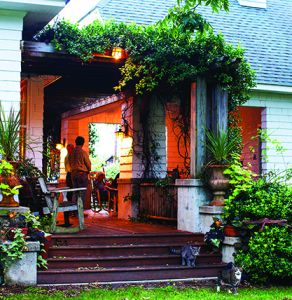 Back porch of Cameron House Inn