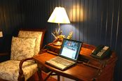 Desk in the Creef room at Cameron House Inn
