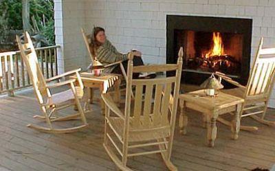 Outdoor porch at Cameron House Inn