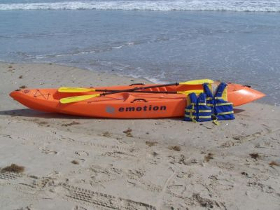 Kayaks for rent at Just For the Beach Rentals
