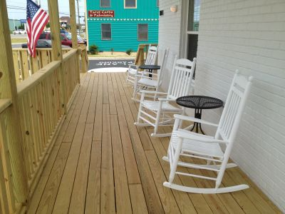 Front porch of Outer Banks Inn