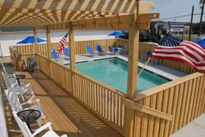Outdoor pool at Outer Banks Inn