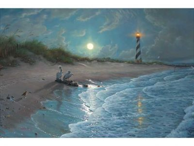 Mark Keathley Moonlit Cove Painting