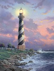 Thomas Kinkade Cape Hatteras Painting