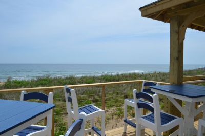 Outdoor deck at Hilton Garden Inn Outer Banks/Kitty Hawk