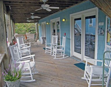 Outdoor seating at Inn at Corolla Light