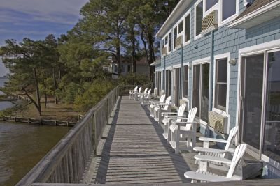 Waterfront view from deck at Inn at Corolla