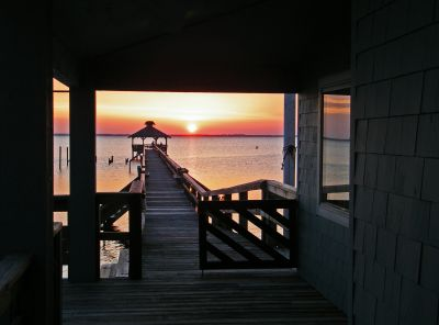 Sunset on our pier