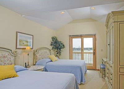 Guestroom in the penthouse suite at Captain's Landing