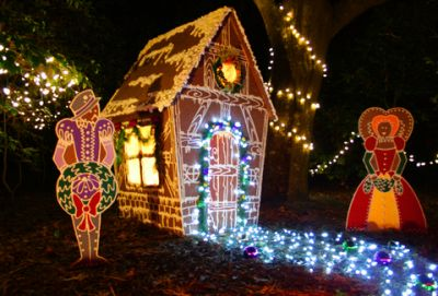 Winter Lights at The Elizabethan Gardens in Manteo, NC