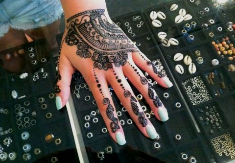 Beach Braids, Hair Wraps & Henna, Henna Tattoos