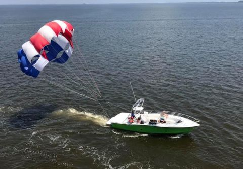 Corolla & Duck Parasail, Enjoy Coastal views while flying on a Parasail