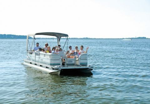 Corolla Water Sports, Pontoon Boat Rentals