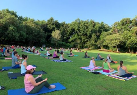 Duck Town Park, Yoga on the Green